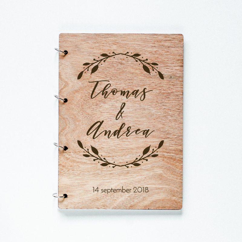 Gastenboek Hout Boho