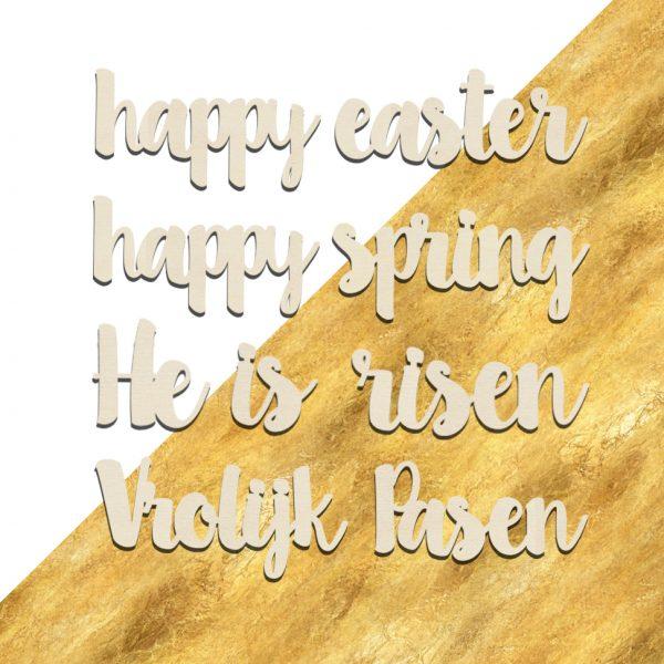Houten Slinger Pasen Voorjaar