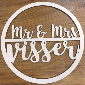 houten hoepel mr mrs