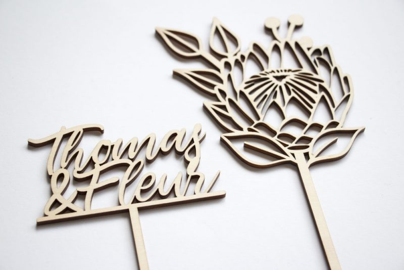 Taarttopper Protea Bloem