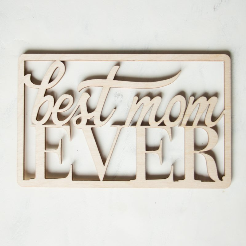 Houten Kaart - Best Mom Ever / Best Dad ever
