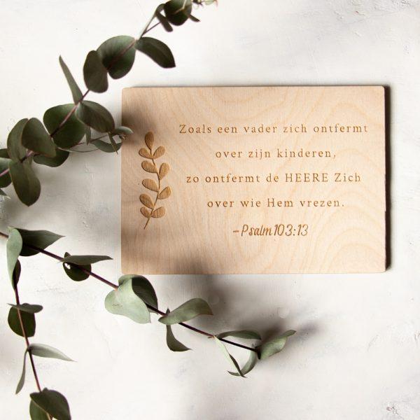 Houten Kaart Psalm 103