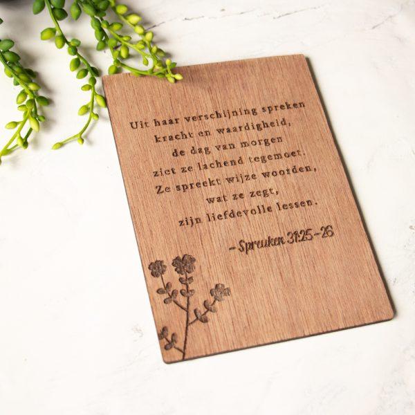Houten Kaart Spreuken 31