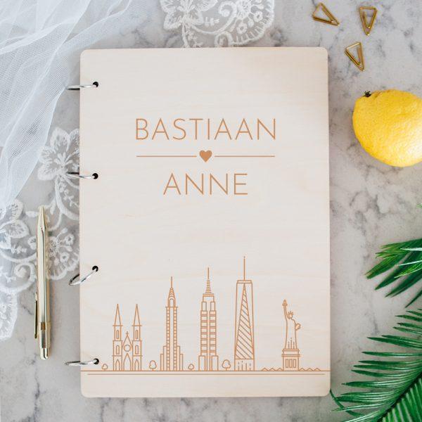 Gastenboek Hout Skyline