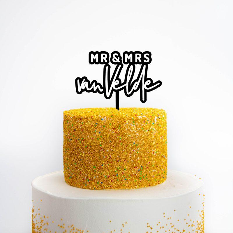 Taarttopper Mr & Mrs 3D