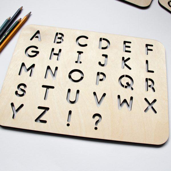 Houten Sjabloon ABC leren schrijven