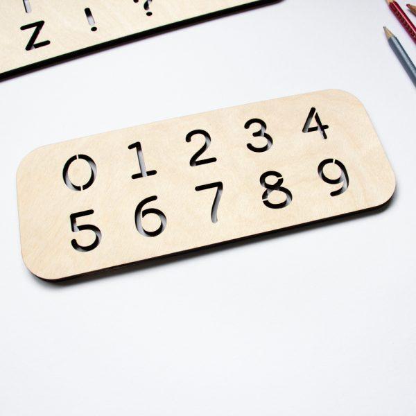 Houten Sjabloon Cijfers leren schrijven