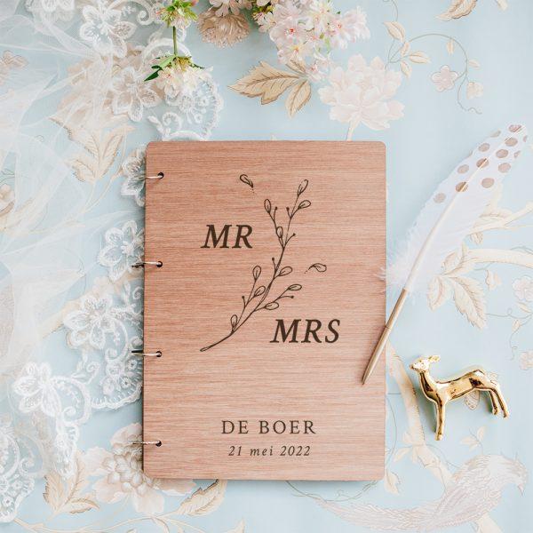 Gastenboek Hout Mr Mrs Botanisch