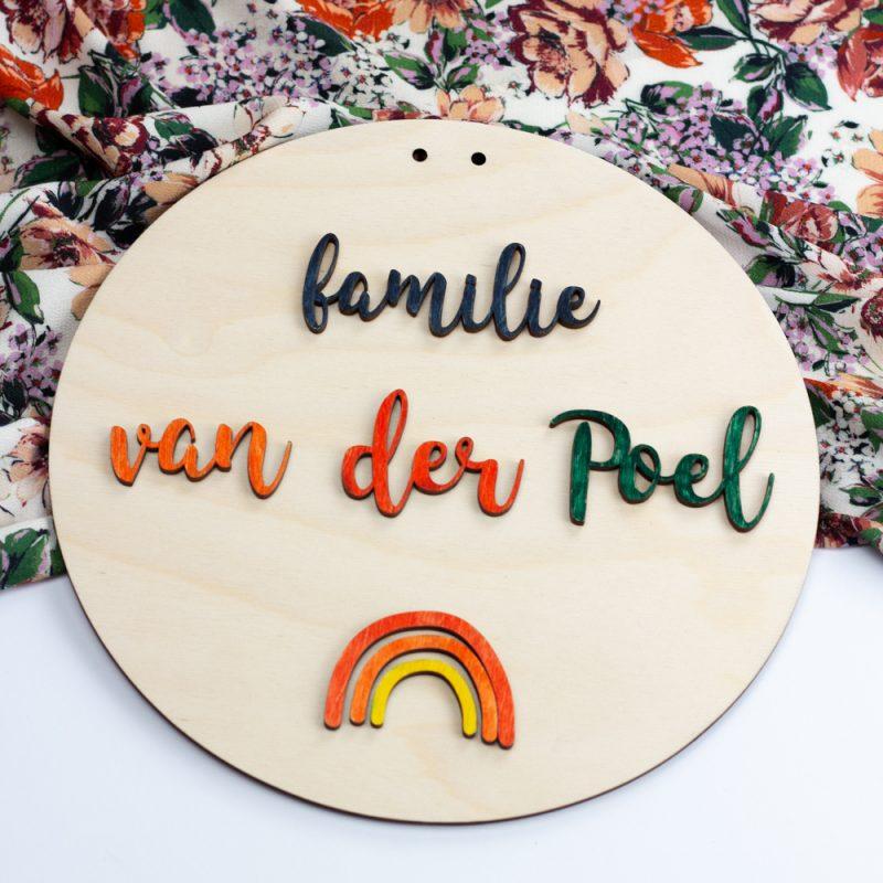 Houten knutselbord - Familie