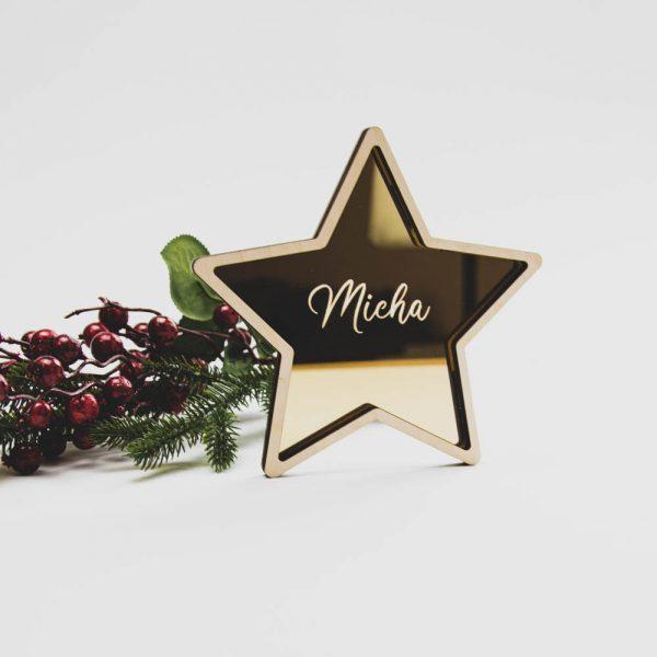 Kerstster met Naam 3D