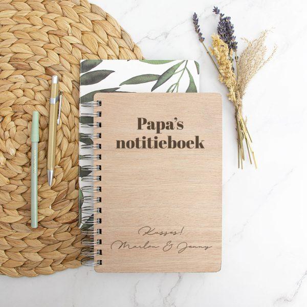Houten Notitieboek Moeder- en Vaderdag - Modern